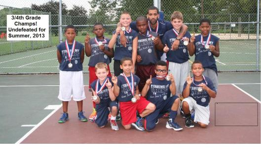 2013 Summer League 3/4 Grade Champions - UNDEFEATED
