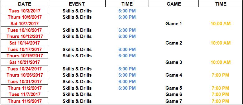 Dleague Schedule 2017